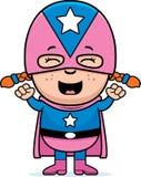 Super héroe del niño emocionado libre illustration