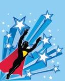 Super héroe del vuelo ilustración del vector