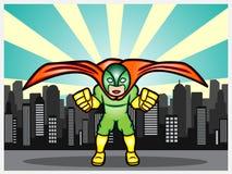 Super héroe en la ciudad Imagen de archivo libre de regalías
