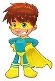 Super héroe joven. stock de ilustración