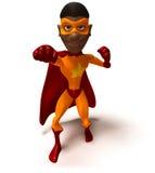 Super héroe negro Imagenes de archivo