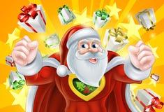 Super héroe Santa Claus de la Navidad Fotos de archivo libres de regalías