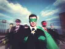 Super héroe Team Confidence Concept de los hombres de negocios Fotos de archivo libres de regalías