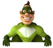 Super héroe verde ilustración del vector