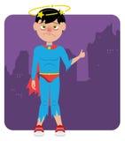 Super héros échoué en difficulté illustration stock