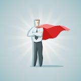 Super héros d'homme d'affaires Images libres de droits