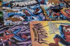 Super héros de bandes dessinées de merveille de Spider-Man photographie stock libre de droits