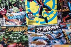 Super héros de bandes dessinées de merveille de Spider-Man photographie stock