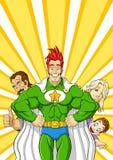 Super héros de famille Photos libres de droits