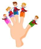 Super héros de famille de doigts illustration libre de droits