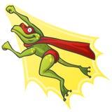 Super héros de grenouille de bande dessinée Photos stock