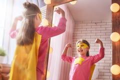 Super héros de jeux d'enfant Photographie stock libre de droits