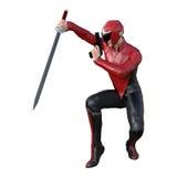 super héros masculin du rendu 3D sur le blanc Image libre de droits