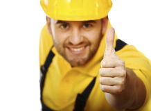 Super handyman Royalty Free Stock Image