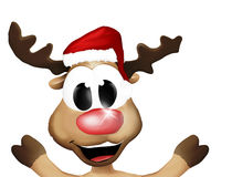 Super Happy Christmas Reindeer Stock Image