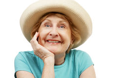 Super Happy Senior Royalty Free Stock Images