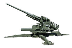 Super heavy old anti-aircraft guns Royalty Free Stock Images