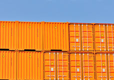 Super heavy shipping containers Royalty Free Stock Photos