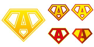 Super held Logo Letters Superhero Alphabet Royalty-vrije Stock Afbeelding