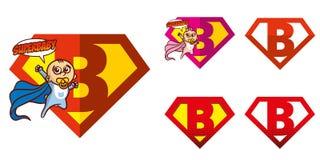 Super held Logo Letters Superhero Alphabet Stock Afbeelding