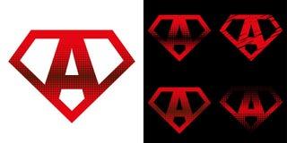 Super held Logo Letters Superhero Alphabet Royalty-vrije Stock Fotografie
