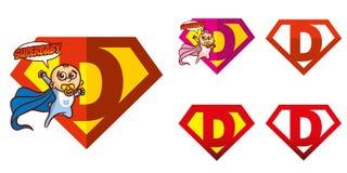 Super held Logo Letters Superhero Alphabet Stock Fotografie