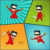 Super heldenreeks, chef-kok van Japanse keuken vector illustratie