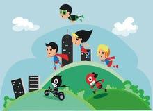 Super Heldenteam Royalty-vrije Stock Afbeeldingen