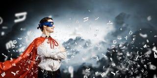 Super-herói corajoso Fotos de Stock
