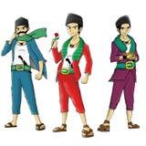Super-herói da mascote dos povos étnicos asiáticos Fotos de Stock