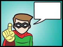 Super-herói de fala Imagem de Stock