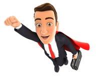 super-herói do homem de negócios 3d Foto de Stock Royalty Free