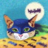 Super-herói dos gatos batman Fotografia de Stock