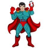 Super-herói esperto do telefone Fotografia de Stock