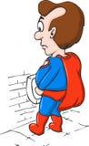 Super-herói gordo do homem Imagem de Stock