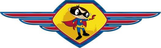 Super-herói heroico dos desenhos animados ilustração stock