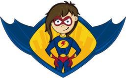 Super-herói heroico dos desenhos animados ilustração royalty free