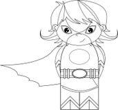 Super-herói heroico dos desenhos animados ilustração do vetor