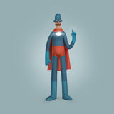 Super-herói masculino que veste a ilustração azul da série Imagens de Stock Royalty Free