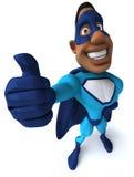 Super-herói preto Fotografia de Stock Royalty Free