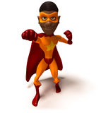 Super-herói preto Imagens de Stock