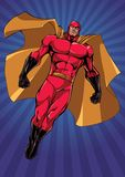 Super-herói que voa Ray Light Vertical ilustração stock