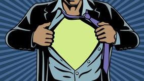 Super-herói sob a tampa ilustração royalty free