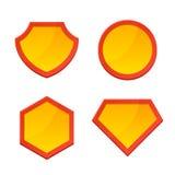 Super-herói vazio Logo Template Set Vetor Foto de Stock