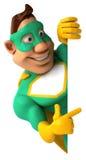 Super-herói verde Fotografia de Stock