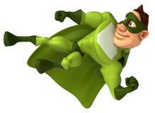 Super-herói verde Fotos de Stock