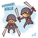 Super-herói Ninja Boy Clipart Imagem de Stock Royalty Free