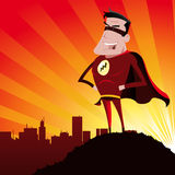 Super-hero. Illustration of a super-hero standing proudly Stock Photo
