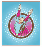 Super Hero. Comic book style super hero with halftone background. Great for awards and achievements Stock Photos