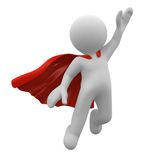 Super hero. 3d super hero with red cape Royalty Free Stock Photo